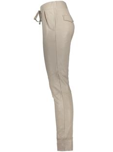 high leather coated trouser 201 zoso broek 0007 sand