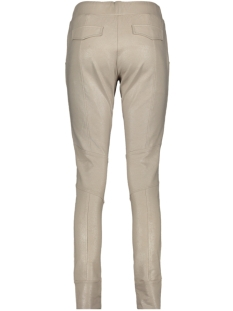 high leather coated trouser 201 zoso broek 0007 sand