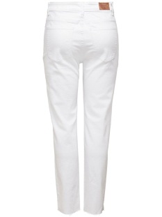 onlemily  life hw st raw crpank col 15175323 only jeans white