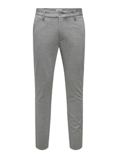 Only & Sons Broek ONSMARK PANT STRIPE GW 3727 NOOS 22013727 Light Grey Melange