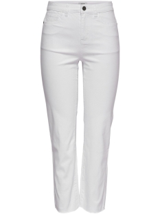 Jacqueline de Yong Jeans JDYNEW FIVE STRAIGHT HIGH RAW ANK P 15179375 White