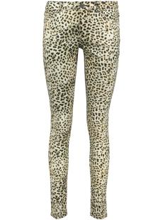 Geisha Jeans LEOPARD JEANS 91068 OFF-WHITE/BLACK COMBI
