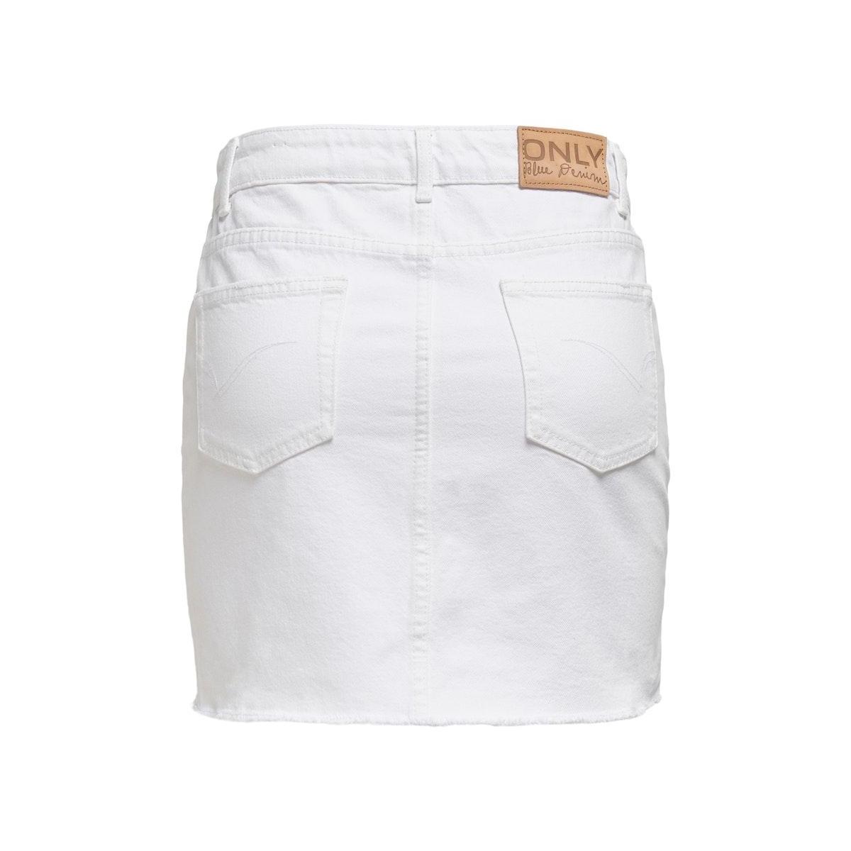onlsky  life reg skirt raw dest bb 15196689 only rok white