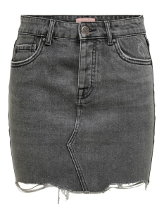 ONLSKY  LIFE REG SKIRT RAW DEST BB 15196689 Medium Grey Denim