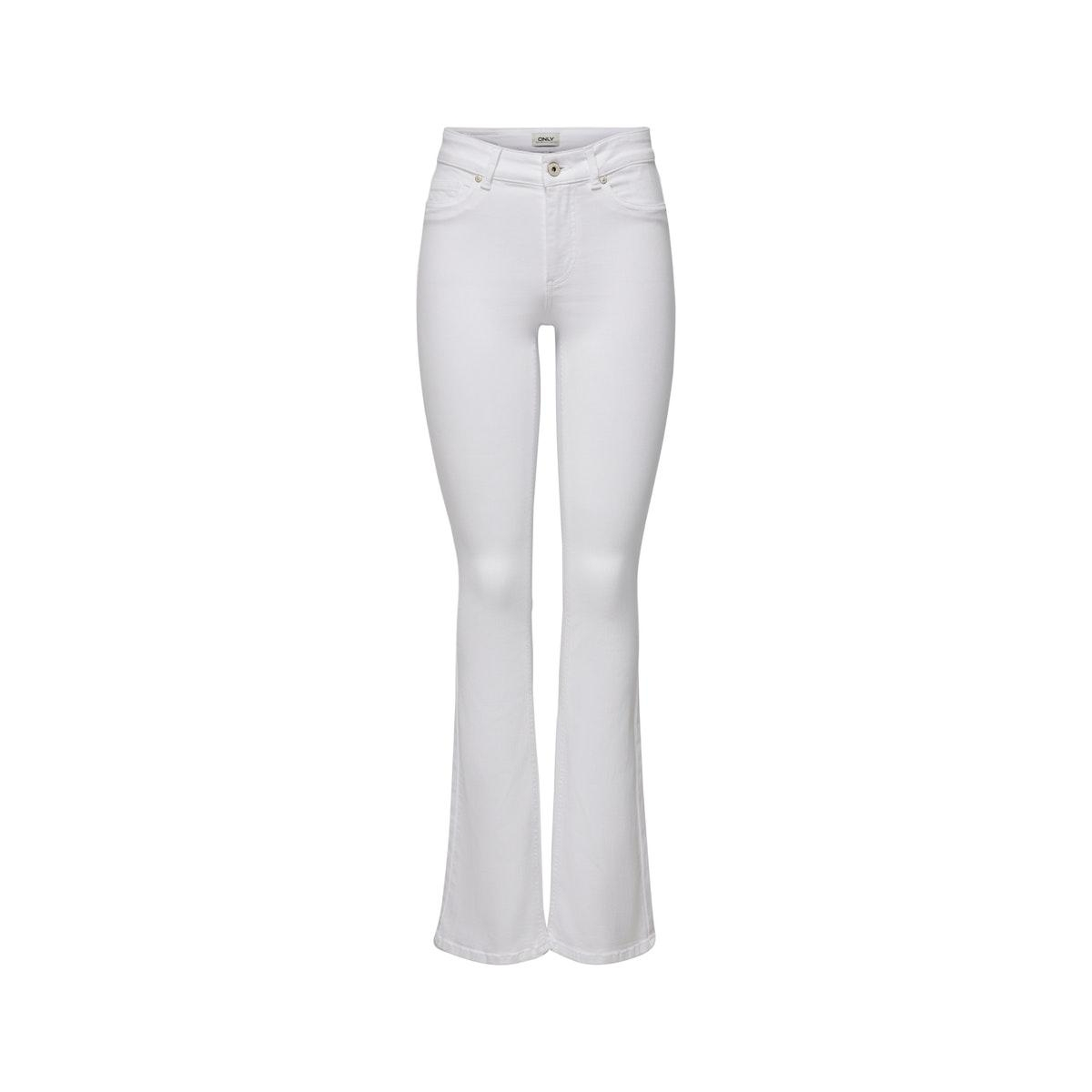 onlblush mid sweet  flared rea0730 15205568 only jeans white