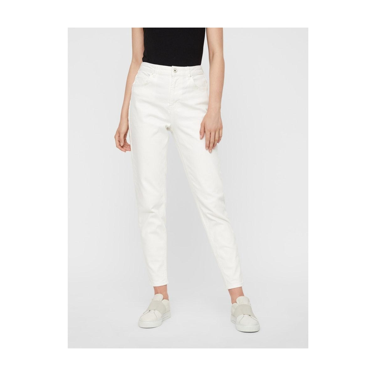 pcleah mom hw ank white-ba/cp 17102065 pieces jeans bright white