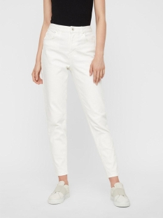 Pieces Jeans PCLEAH MOM HW ANK WHITE-BA/CP 17102065 Bright White