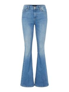 Pieces Jeans PCDELLY DLX FLARED MW JEANS LB124-B 17104850 Light Blue Denim