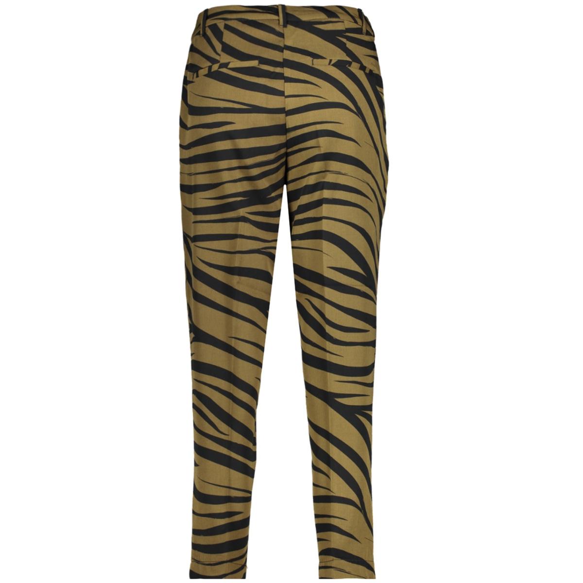 taps toelopende broek in zebra print 1018782xx77 tom tailor broek 22793