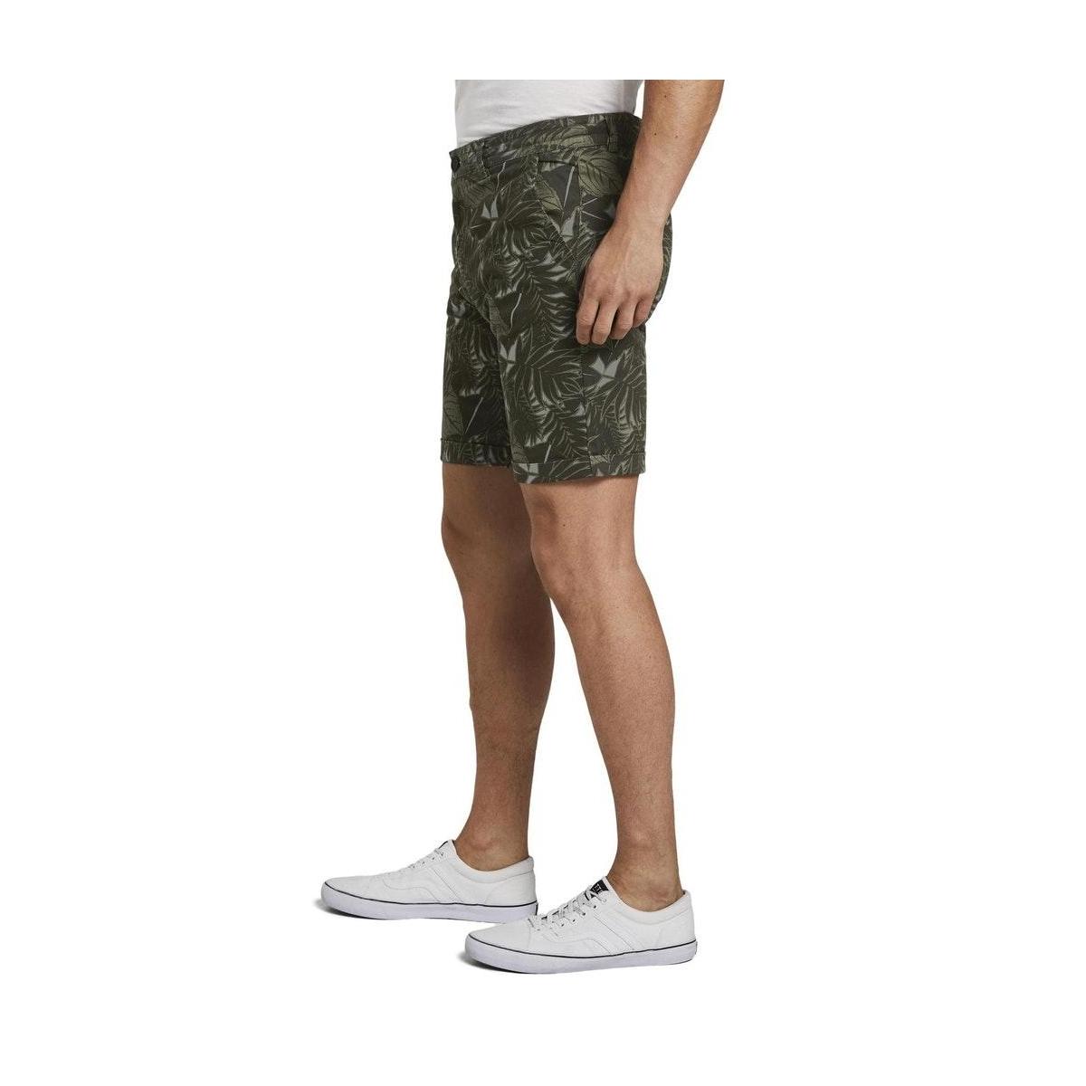 chino shorts met allover print 1016961xx12 tom tailor korte broek 22035