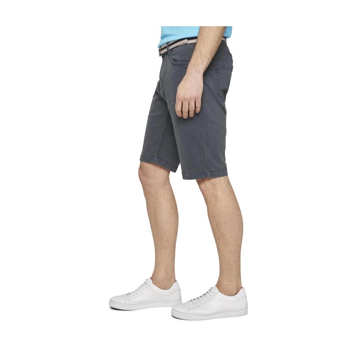 josh regular jeans shorts met riem 1016221xx10 tom tailor korte broek 10668