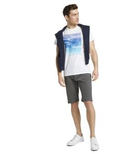josh regular jeans shorts met riem 1016221xx10 tom tailor korte broek 10899