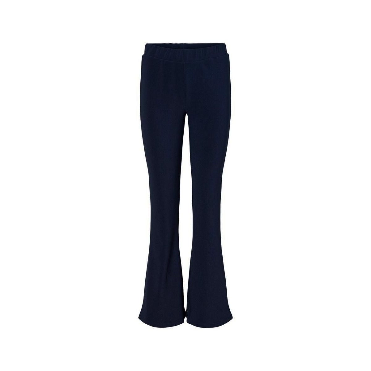nmbillie nw rib flared pants 27012513 noisy may broek black