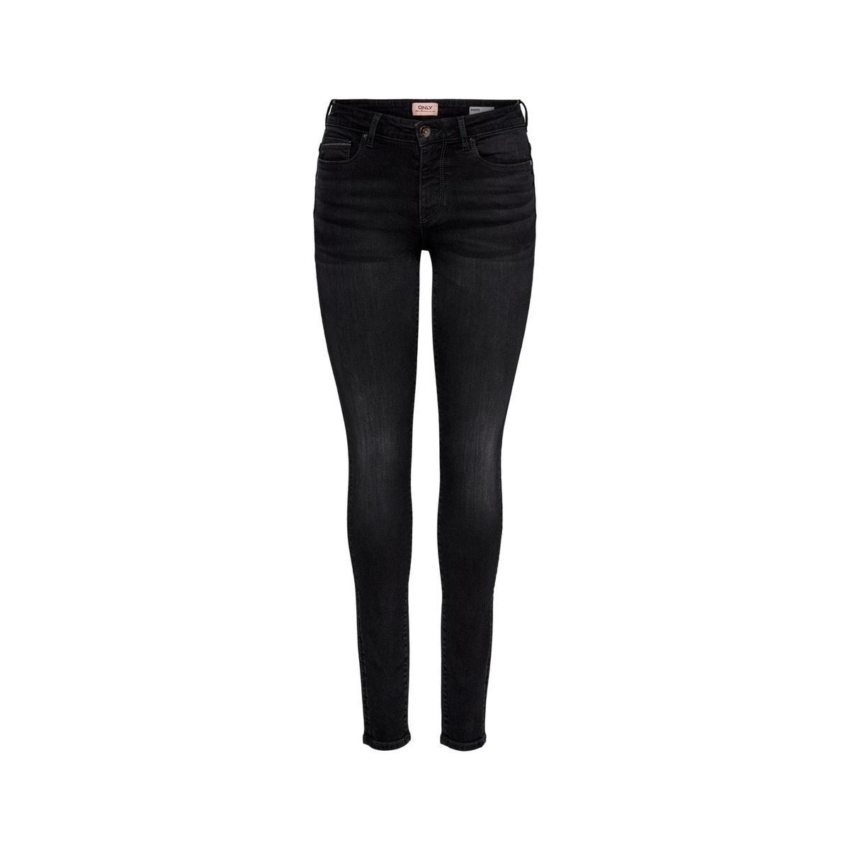 onlshape life reg sk rim19178b noos 15190085 only jeans black denim