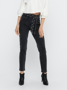 Only Jeans ONLWILD EMILY LIFE HW ANKLE DNM BJ 15210412 Black/WASHED