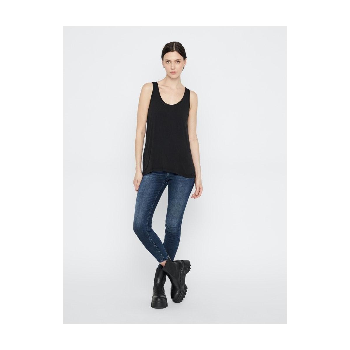 pcdelly skn mw cr db333-ba/noos bc 17106120 pieces jeans dark blue denim