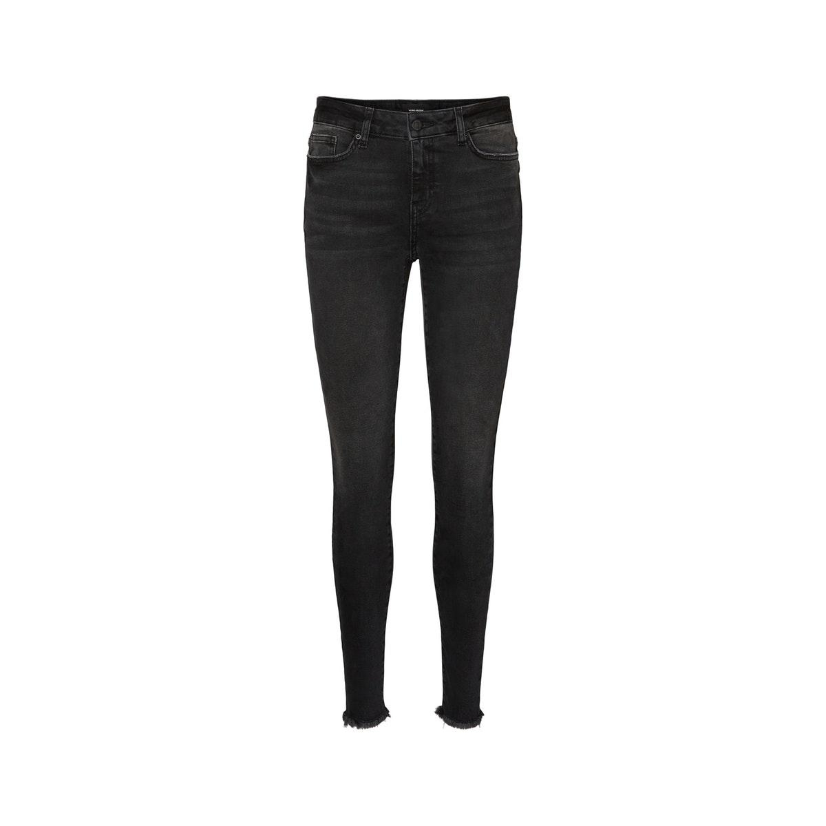 vmhanna mr sk raw edg jeans ba1130 10232043 vero moda jeans black