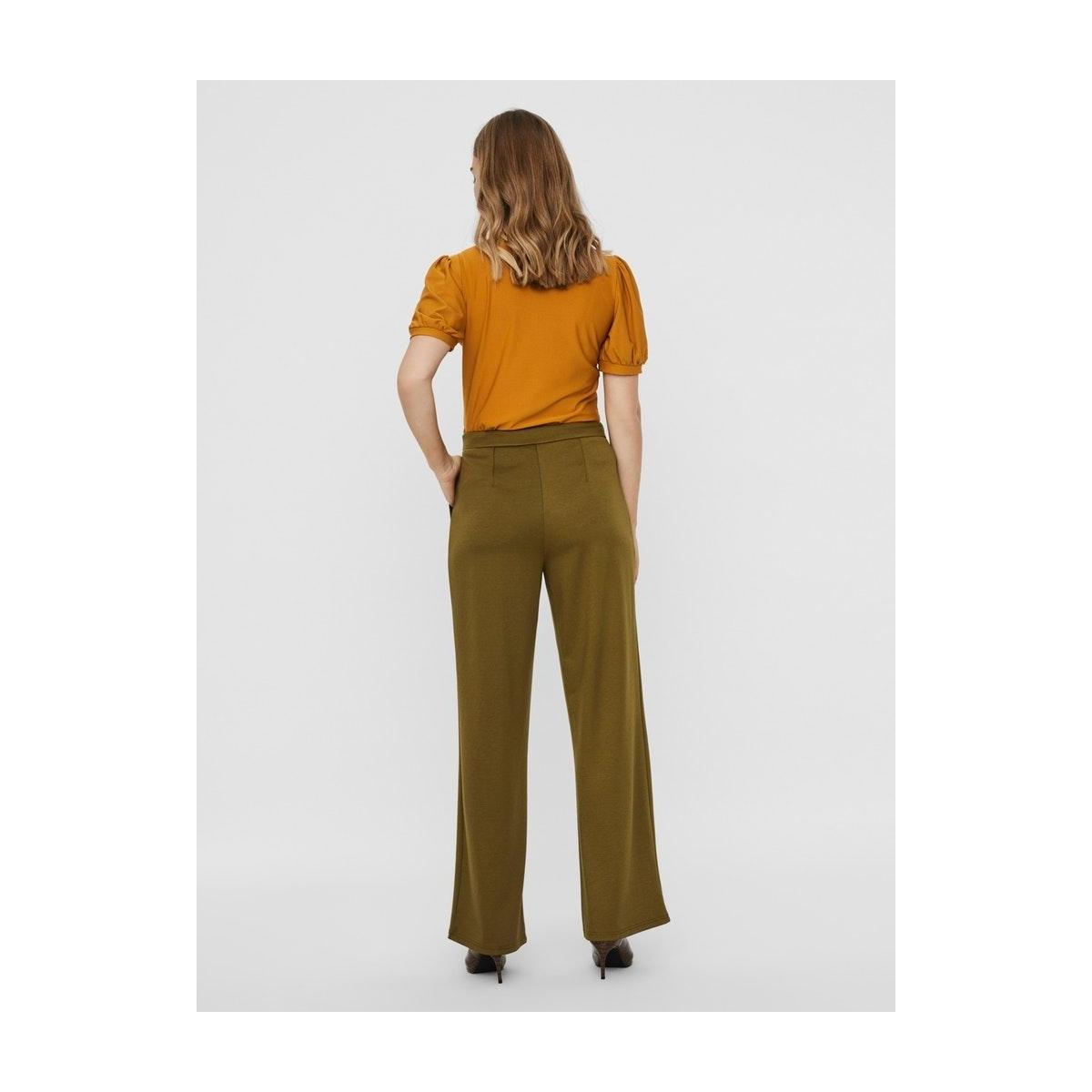 vmbrigit hw pant tlr 10233959 vero moda broek fir green