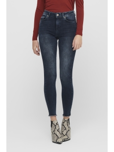 Only Jeans ONLBLUSH LIFE MID SK ANK RAW REA409 15209618 Blue Black Denim