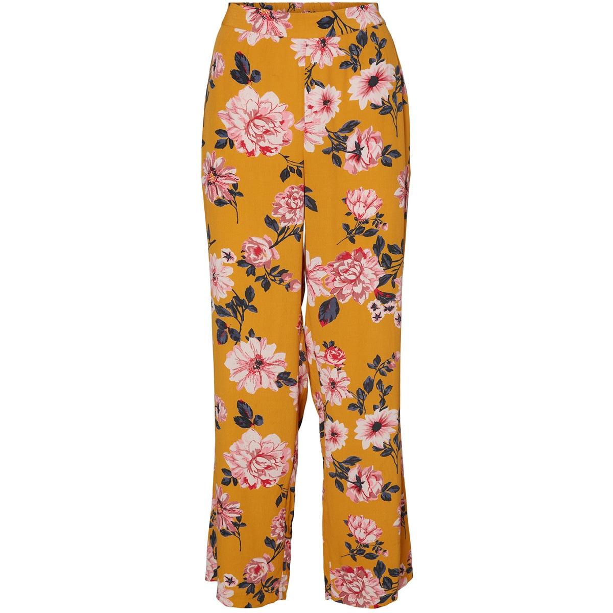 vmvallot hw wide pant lcs 10234243 vero moda broek buckthorn brown