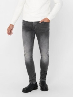 Only & Sons Jeans ONSLOOM SLIM ZIP SWEAT GREY ST 7103 22017103 Grey Denim