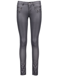 onlnew olivia coated pant noos 15102575 only broek iron gate