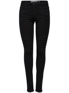 onlroyal reg sk biker jeans pim600 15110777 only jeans black
