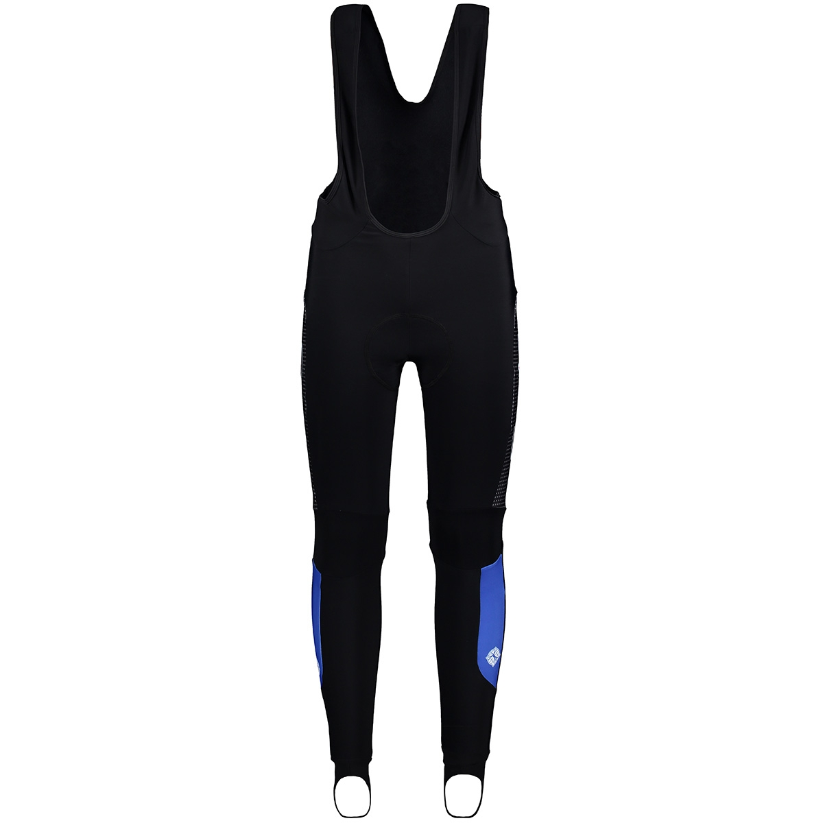 53547 bibtight race winter sans sport broek blauw wit