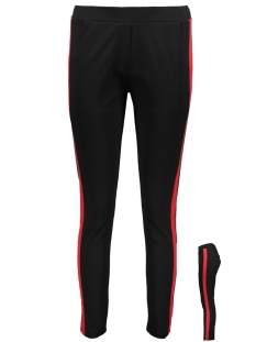Luba Broek LUBA PANT BLACK/RED Black Red