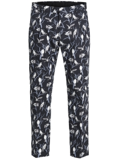 Jack & Jones Broek JPRACE PRINT TROUSER 12132256 Dark Navy