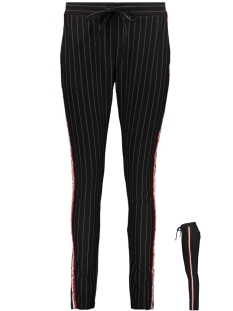 Zoso Broek ATLANTA 2 PINSTRIPE TROUSERS BLACK/RED
