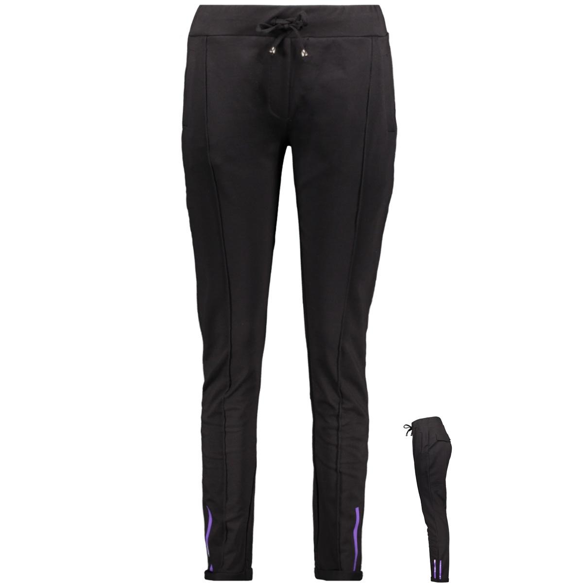 smash sporty trouser zoso broek black/purple