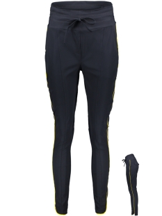 Zoso Broek TRAVEL PANT PIPING HR1904 NAVY YELLOW