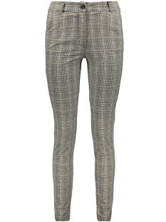 IZ NAIZ Broek CHINO CHECK 3568 GREY/CAMEL