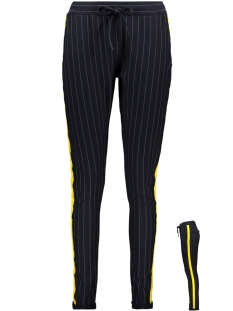 Zoso Broek PINSTRIPE TROUSER NAVY/YELLOW