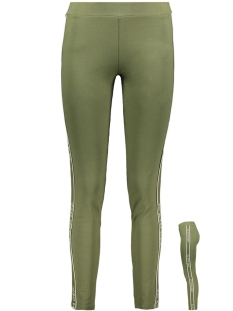 Zoso Broek TIGHT PANT SR1914 ARMY/OFFWHITE