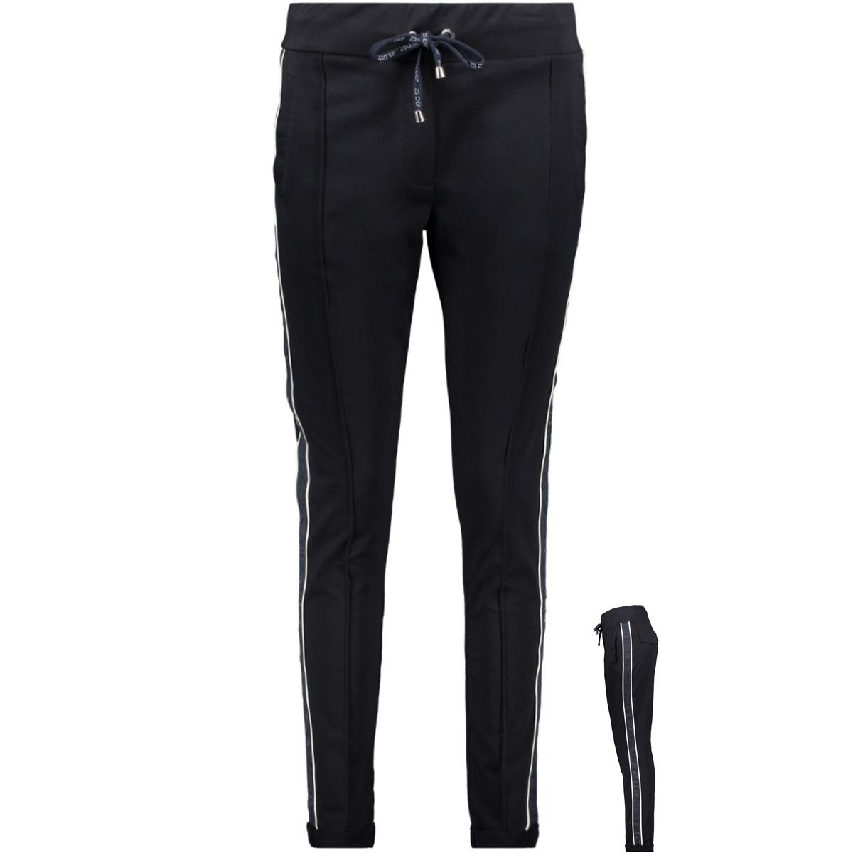 sweat trouser sr1916 zoso broek navy/offwhite