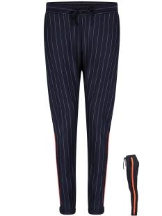 pinstripe trouser hr1922 zoso broek navy/orange red