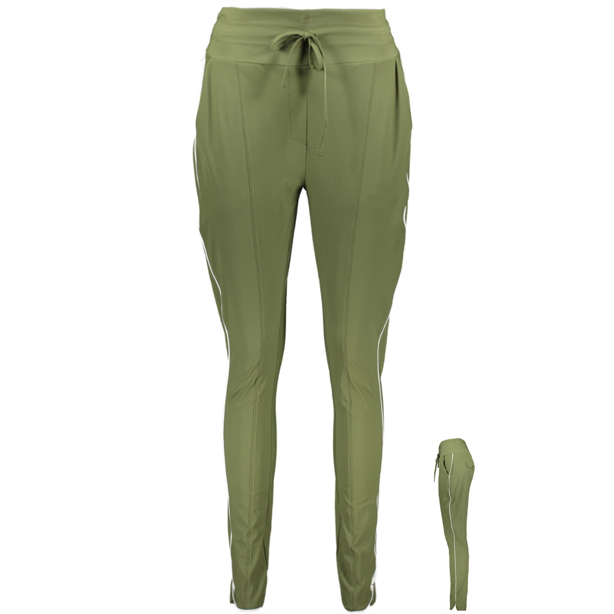 travel pant with piping hr1904 zoso broek army/ offwhite