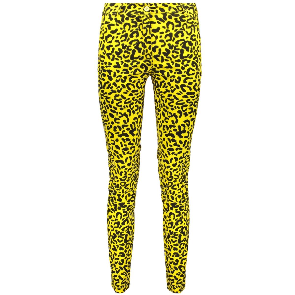 3568 chino leopard iz naiz broek yellow