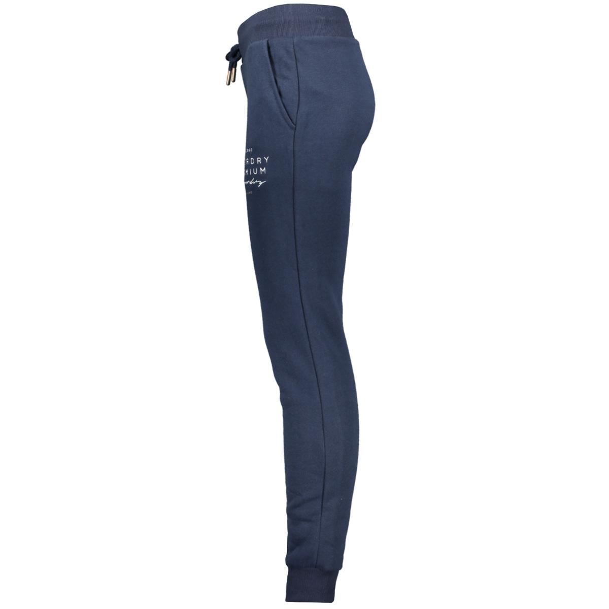 applique joggers w7000005a superdry broek navy
