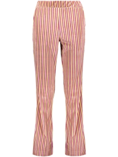Goût d'Anvers Broek WIDE PANTS VELVET GDA12 0506 STRIPES VIOLA/SAND/HONEY