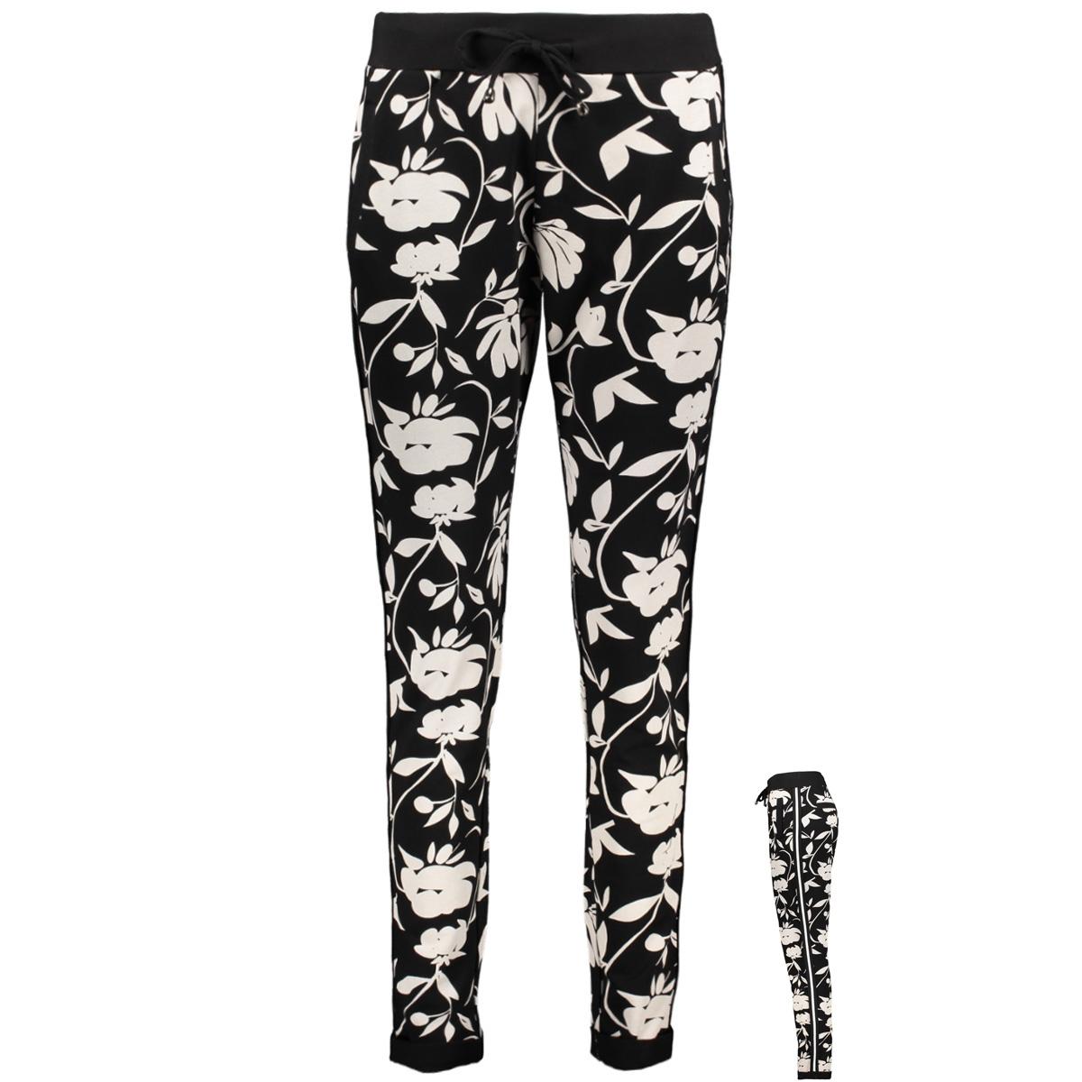 tully 194 sweat trouser zoso broek black/offwhite