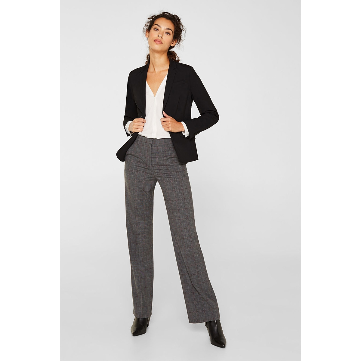 check stretchbroek 119eo1b021 esprit collection broek e020