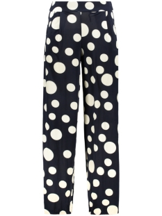 IZ NAIZ Broek LOOSE PANT 3523 BIG DOT NAVY