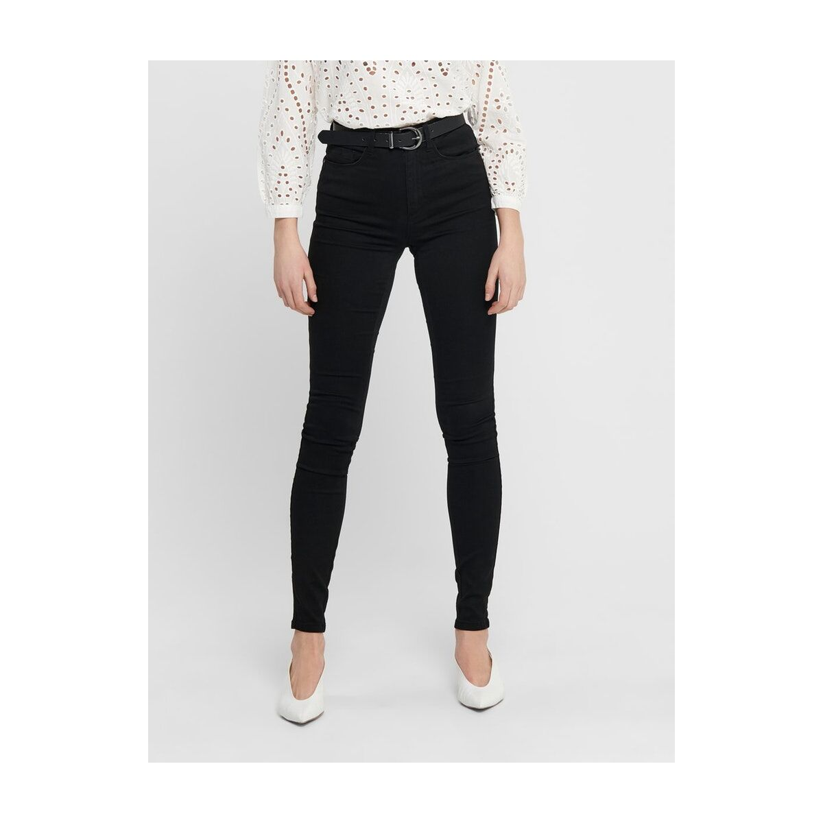 onlroyal high sk jeans pim600 noos  15093134 only jeans black