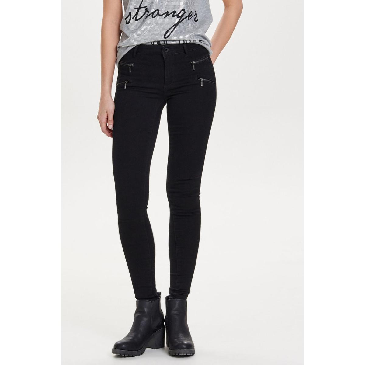 onlroyal reg skinny zip jeans 15096250 only jeans black