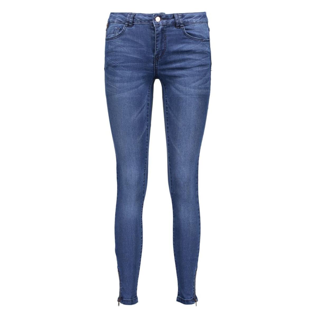 vicommit rw 5p 7/8 hk0107 zip 14033103 vila jeans medium blue