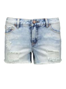 pcjust thilde shorts/lbld noos 17072593 pieces korte broek light blue denim