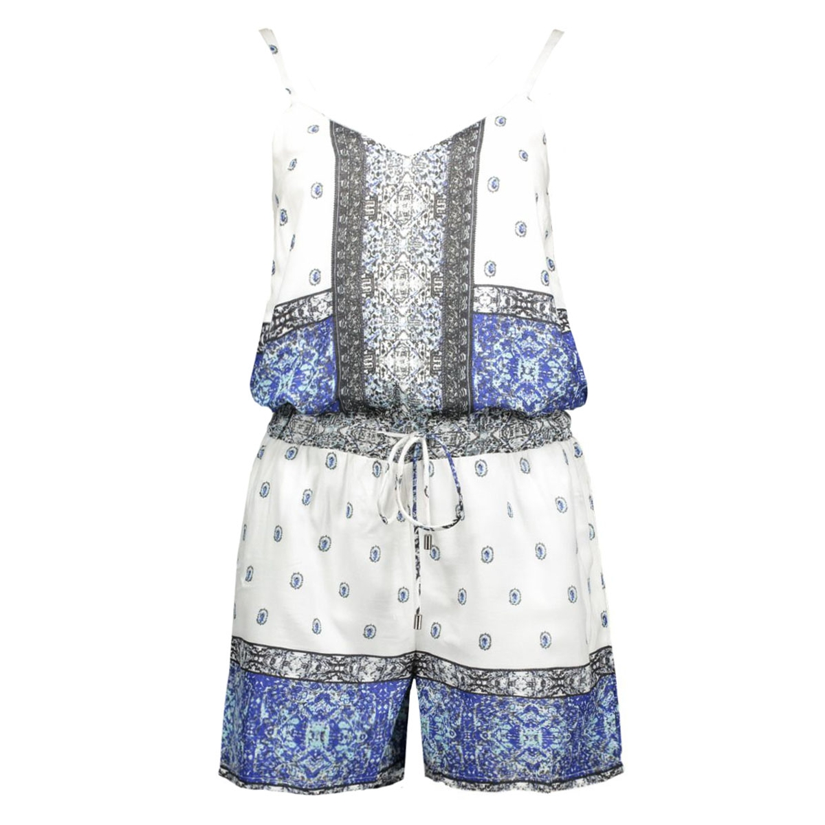 vmlupita s/l playsuit 10156590 vero moda jumpsuit black iris/lupita com